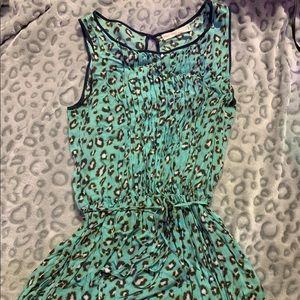 Green Leopard Print Tank Dress